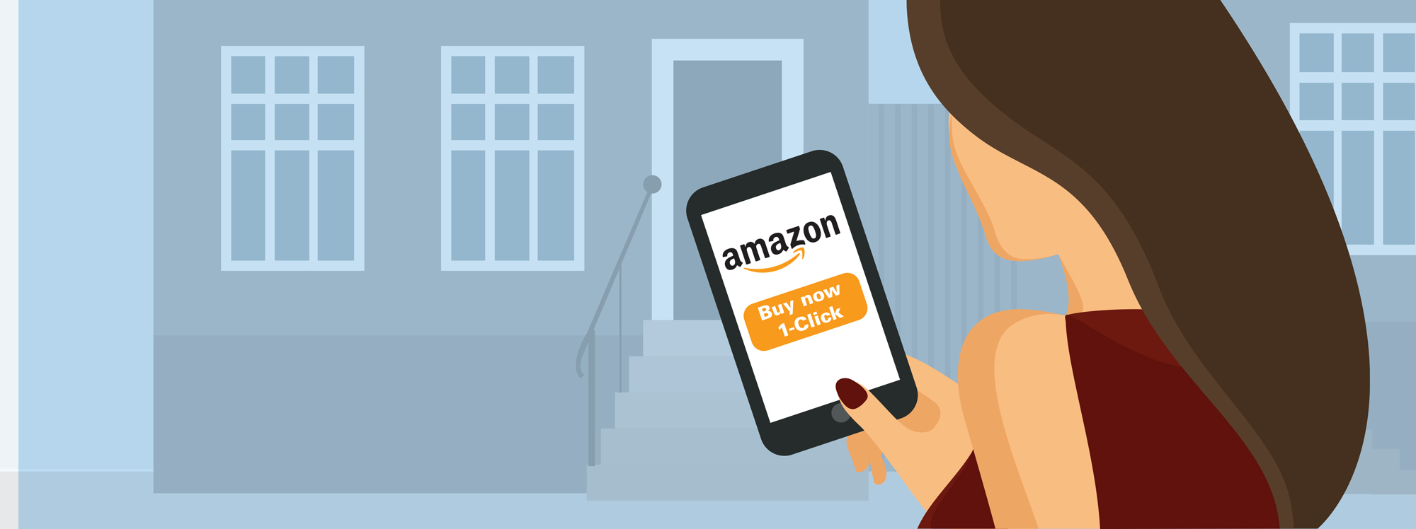 Person holding phone with Amazon purchase screen